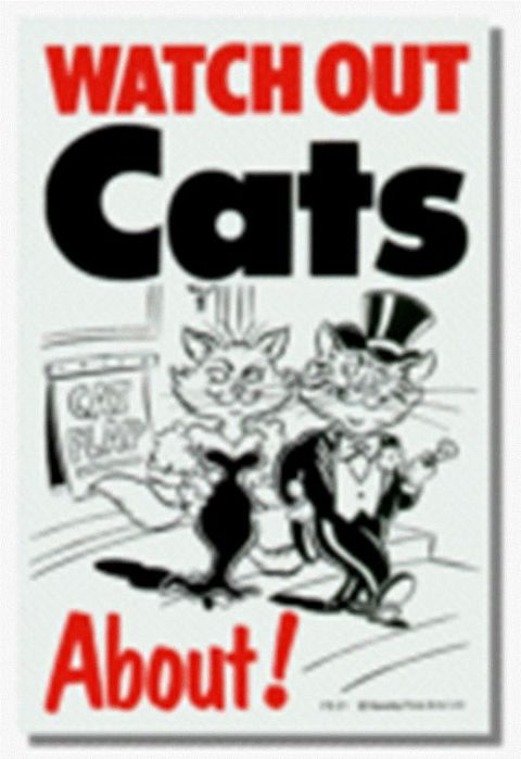 CATS ABOUT - SIGN